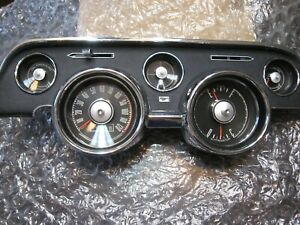 1968 Ford Mustang Instrument Gauge Cluster Reconditioned Fastback Coupe Gt