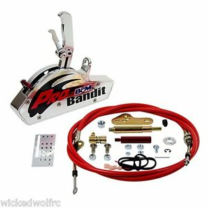 B M Pro Bandit Automatic Shifter Gate Chevy Powerglide 2 Speed Rear Exit Cable