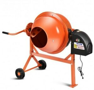 Concrete Cement Mixer portable Electric Mixing Mortar Heavy Duty