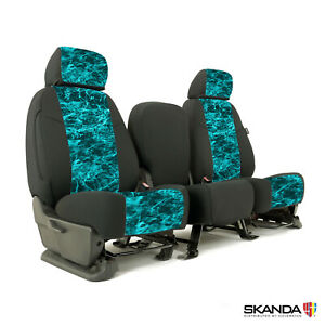 Mossy Oak Elements Seawater Camo Custom Tailored Seat Covers For Ford F450