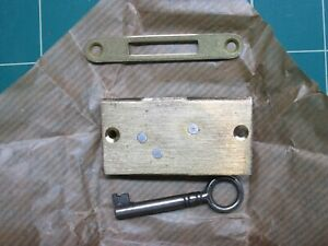 New Old Stock Cabinet Drawer Lock With Skeleton Key Hardware