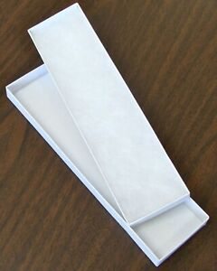 Paper Cardboard White Jewelry Gift Box 22 Cents Each 8 X 2 X 7 8 X