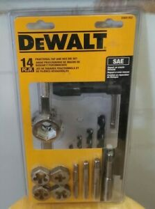 Dewalt Fractional Tap And Large Hexagon Die Set 14 piece Package Damage