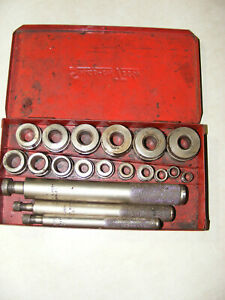 Vintage Snap On Blue Point A157 A Bushing Driver Set With Case