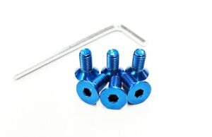 Blue Steering Wheel Hardware 6 Replacement Screws Bolts For Nardi Momo Nrg