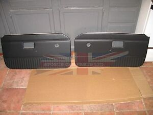 New Pair Of Door Panels For Mgb 1970 76 Made In Uk Without Chrome Strip Navy
