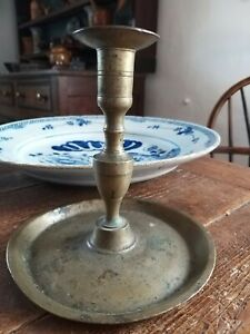 17th Century Brass Candlestick Early Lighting Early Metalware