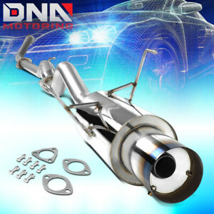 For 2001 2005 Honda Civic Ex Gx Cat back Exhaust System 4 od Burnt Muffler Tip