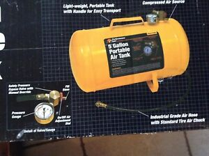 Performance Tool 5 Gallon Portable Air Tank Brand New In Box Great For Tires