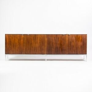 1960 S Vintage Florence Knoll Rosewood And Marble Credenza Cabinet Sideboard