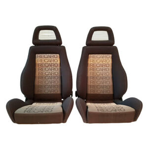 2 Jdm Recaro Lx Gradiation Reclinable Fishnet Headrest Racing Seats Cars Sale