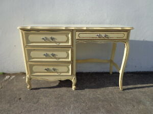 Desk Vanity Table French Provincial Antique Queen Anne Writing Regency Office