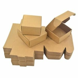 Brown Kraft Paper Boxes Crafts Gifts Candy Jewelry Packaging Wedding Party Boxes