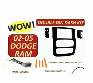 02 03 04 05 Dodge Ram Car Stereo Radio Double Din Installation Dash Kit
