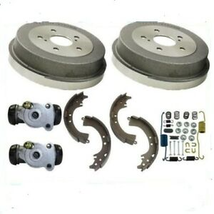 Rear Brake Drums Shoes Spring Kit Wheel Cylinder Fits 2002 2004 Toyota Camry