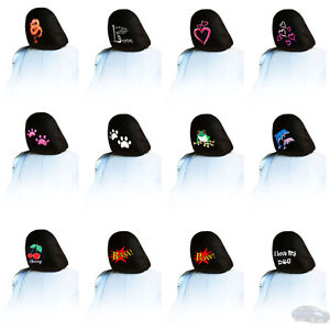New For Nissan one Piece Embroidery Logo Car Truck Auto Seat Headrest Cover