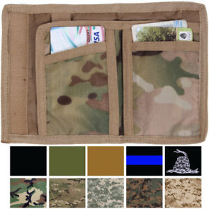 Tactical Camo Trifold Wallet Nylon Army Commando Military Camouflage Tri Fold $7.99