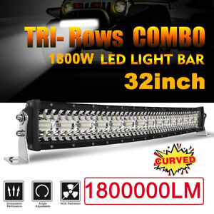 Tri Row 32inch 1800w Curved Led Light Bar Spot Flood Truck Offroad Vs 30 34 36