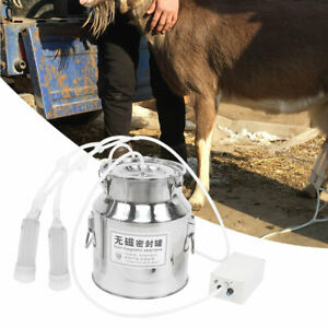 14l Goat Milker Electric Milking Machine Farm Sheep Adjustable Speed Pump Bucket