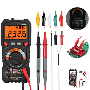 Digital Multimeter 6000count Ncv Temperature Resistance Diode Continuity Leads