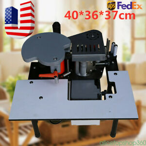110v Portable Double Glue Woodworking Edge Banding Machine Edge Bander 10 45mm