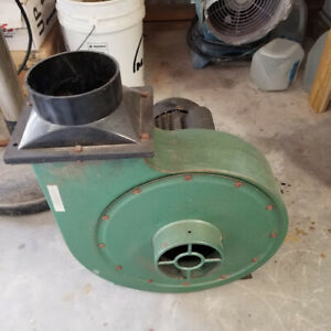 Squirrel Cage Blower dust Collector Central Machinery 20a 110v 2hp