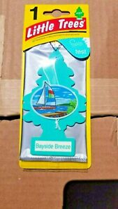 Little Trees Car Air Freshener Hanging Paper Tree Bayside Breeze 4 pack