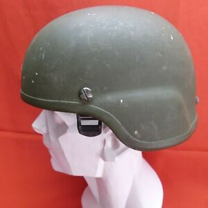 ACH MICH USED Helmet MSA size MEDIUM PADS Chinstrap Green M # 24