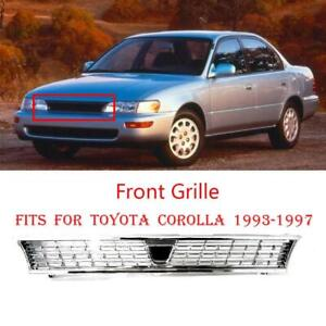 For 93 97 Toyota Corolla Grille Ae101 Jdm Chrome Grill Without Logo 1993 1997