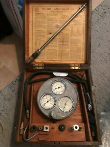 Antique Original Auto Parts Nos Engine Tester Set Rare