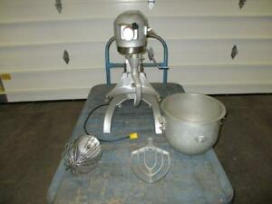 Hobart A 200 Commercial Bakery Dough Mixer 115 Volt With Attachments Used 20 Qt