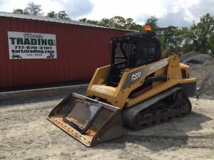 2007 Asv Rc100 Compact Track Skid Steer Loader W Cab High Flow