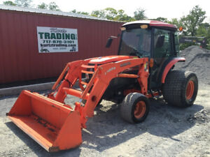 2012 Kubota L5240 4x4 Hydro Compact Tractor W Cab Loader 900hrs