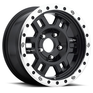 16x7 Vision Off road 398 Manx Competition Black Mach Wheels 5x4 5 0mm Set Of 4