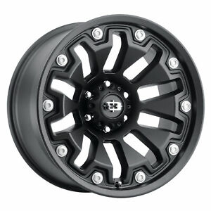 18x9 Vision Off Road 362 Armor Satin Black Wheels 5x4 5 12mm Set Of 4