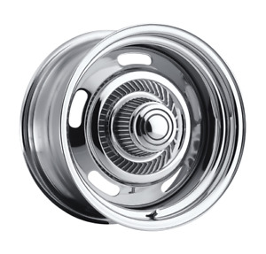 15x7 American Muscle 57 Rally Chrome Wheels 5x4 5 5x4 75 6mm Set Of 4