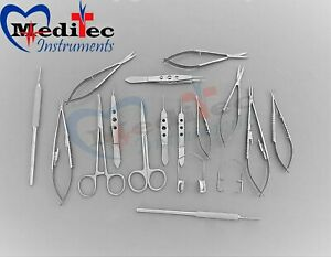 20 Pc Eye Micro Minor Surgery Ophthalmic Veterinary Surgical Instruments By Mti