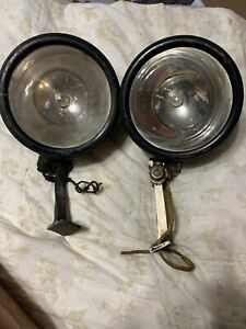 Vintage Early Rare Auto Truck Dual Headlights No 80 S M Lamp Co Los Angeles Ca