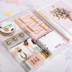 Stationery Set Band Clips Memo Pad Pencil Bookmark School And Office Supplies