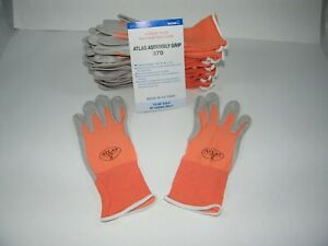 Atlas 370 Showa Work Gloves Nitrile Rubber Palms 12 Pair Small Mango