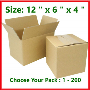 12x6x4cardboard Packing Mailing Gift Moving Shipping Boxes Corrugated Carton