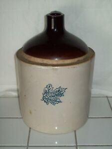 Antique Western Stoneware Shoulder Jug 1 Gallon Stoneware Pottery Jug