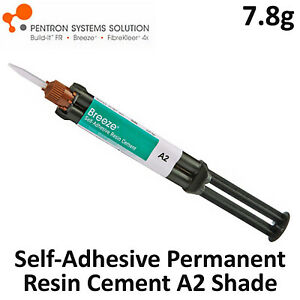 Breeze Dental Self adhesive Resin Permanent Cement A2 Shade 7 8gr