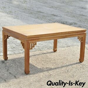 Vintage Teak Wood Ming Style Rectangular Dining Table By Dynasty Transorient