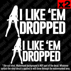 Panty Dropper Decal Sticker Jdm Euro Funny Fatlace Bags Slammed Stance Dropped