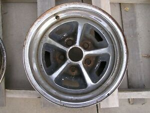 Oem Chrome Magnum 500 Wheel 14 X 5 1 2 Ford Mustang Mopar Gtx Charger Rim
