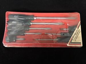 Vintage Snap On Combination Screwdriver Set Sdx80 New Nos Slightly Damaged Box