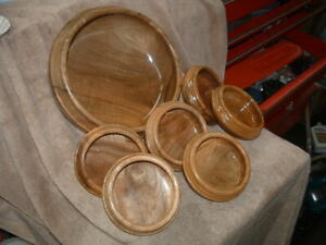 Beautiful Set Of 6 Island Wood Salad Bowls A Large Wooden Salad Serving Bowl