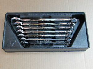 Snap On Soexm707 7 Pc Metric Flank Drive Plus Combination Wrench Set Nice
