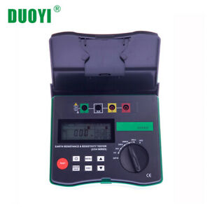 Dy4300 Digital Earth Tester Ground Resistance Tester Meter Soil Resistivity Test